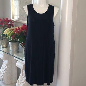 Chico's Traveler's Sleeveless Navy Dress Sz 3